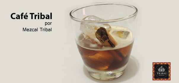 Cocktail con mezcal tribal Cafe tribal, para maridar con postres